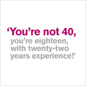 40th Birthday Card - You're Not 40