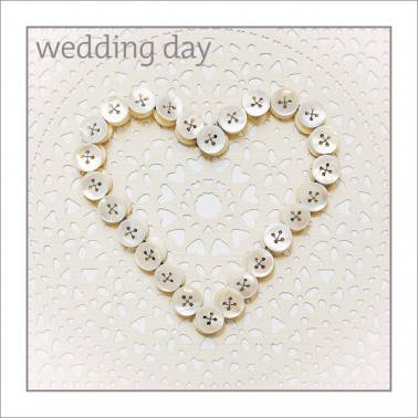 Wedding - Button Heart