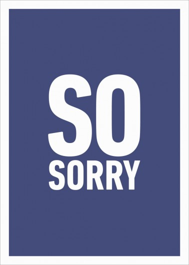 So Sorry