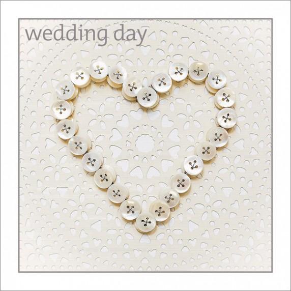 Wedding - Button Heart