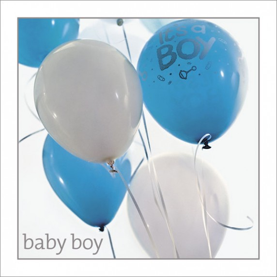 New Baby Boy - Blue Balloons