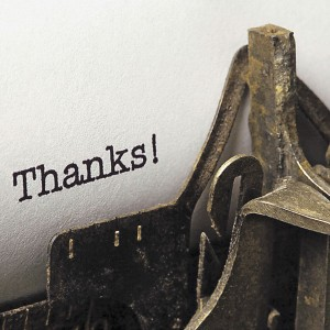 Typewriter - Thanks